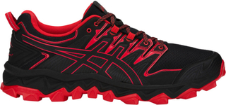 asics M's Gel-FujiTrabuco 7 Shoes Black/Classic Red US 7,5 | 40,5 2019 Terrengløpesko