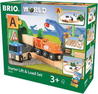BRIO World - 33878 Startset med lyftkran och lastsats