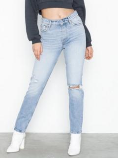 Gina Tricot Original Slim Jeans Lt Blue Destroy Slim fit