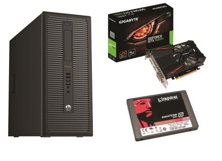 HP EliteDesk 800 G1 TWR - Gamer GTX 1050 TI