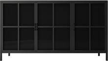 Homexperts Sideboard Choice - Vitrine mit 3 Glastüren, schwarz