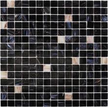 Nordic Kakel Glasmosaik 32,7X32,7-Mörkblå/Guld