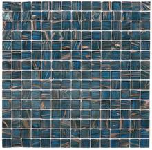 Nordic Kakel Glasmosaik 32,7X32,7-Petrol/Guld