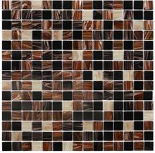 Nordic Kakel Glasmosaik 32,7X32,7-Cacao