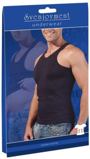 Shapewear Top Men Black S-2XL
