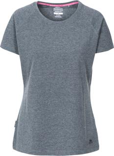 Trespass benita casual t-shirt dame black marl