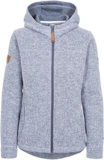 Trespass reserve women's fleece hoodie denim blå
