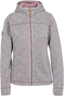 Trespass reserve women's fleece hoodie dusty heather