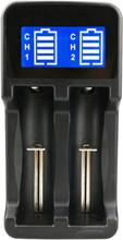 Batteriladdare med LCD för batteri 18650 / AA / AAA / 17670 mm