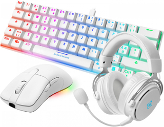 Deltaco Gaming White Line Wireless Bundle