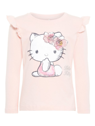 NAME IT Mini Hello Kitty Long-sleeved T-shirt Women Pink