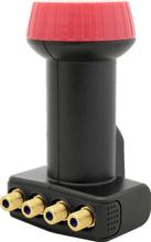 MegaSat Diavolo Quattro-LNB Matning: 40 mm förgylld anslutning, Väderskydd