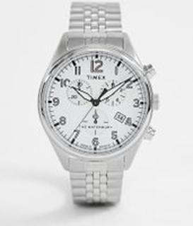 Timex Waterbury traditonal choronograph bracelet watch in silver - Silver