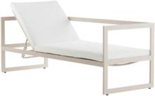 ALASSIO solsäng/soffa - rygg vänster Beige/vit dyna