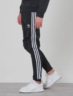 Adidas Originals, SUPERSTAR PANTS, Svart, Bukser för Gutt, 152 cm
