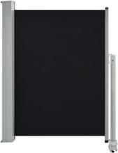 vidaXL Infällbar sidomarkis 100 x 300 cm svart