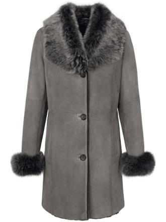 Skindfrakke Fra Uta Raasch grå