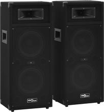 vidaXL Profesjonelle passive Hifi-høyttalere 2 stk 1000 W svart