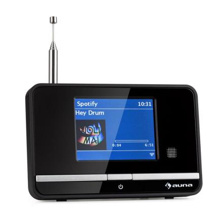 IAdapt 320 internetradio-adapter WLAN DAB/DAB+ FM/AM TFT-display svart