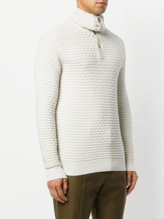 Paolo Pecora buttoned roll-neck sweater - White