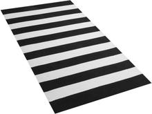 Mustavalkoinen matto sisä- ja ulkokäyttöön 80 x 150 cm TAVAS