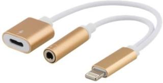 Epzi Lightning till 3,5 mm adapter, laddning och ljud - Guld