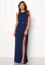 Moments New York Rose Draped Gown Dark blue 38