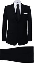 Vidaxl tvådelad kostym herrar svart strl. 46