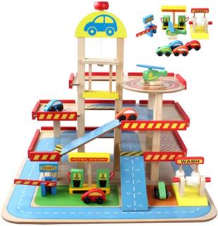 Multi-etage legetøjssæt i træ