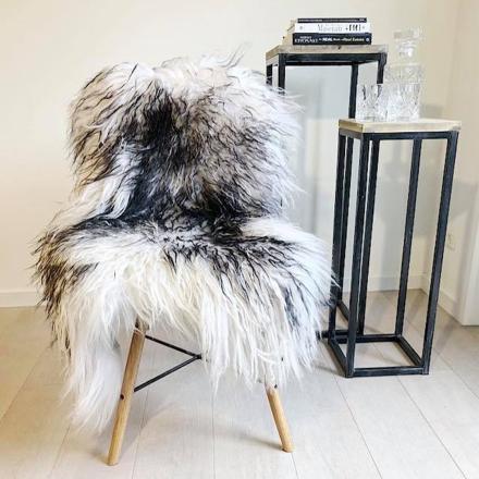 Lammeskind-Islandsk-Langhåret-krøllet-Hvid/Sort