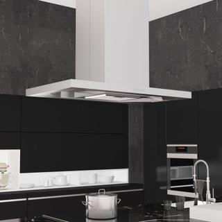 vidaXL ø-emhætte LED rustfrit stål 756 m³/t LED 90 cm