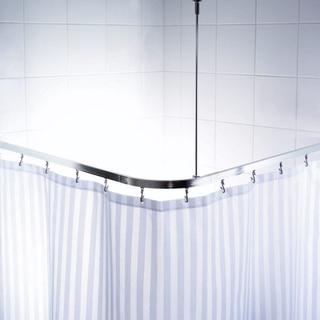 RIDDER Universal duschstång för hörn med krokar krom 52500