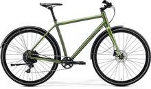 "Merida Crossway Urban 300 Hybridcykel Grön, 28"", Skivbroms, 1x11, 11,9 kg"