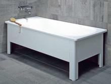 Svedbergs Badekar 150 x 70 cm m/Front & gavl, hvit