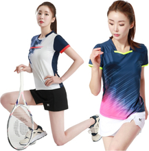 Breathable Badminton Shirt Table Tennis Uniforms Tennis Quick Dry Running Sport Short Sleeve Training Women Game Tee