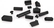 ENKAY 13Pcs/Set Universal Anti-dust Plugs Lenovo HP Asus Dell Acer Svart