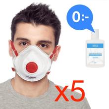Antgamer 5x CE FFP3 Munskydd + GRATIS Handdesinfektion Skydd Mun / Mask Skyddsm