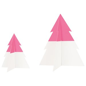 My Little Day Two-Colored Christmas Tree - Bright Pink - Large