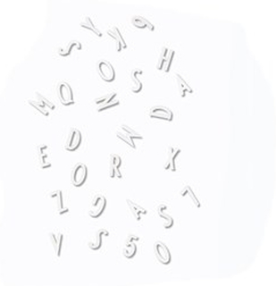 Design Letters Små Bokstäver/Nummer Box Vit