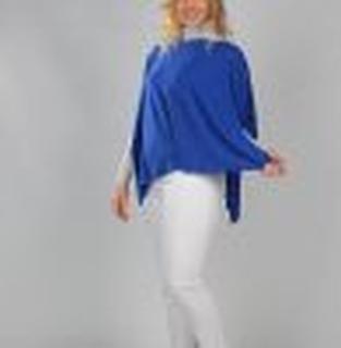 T- Shirt Poncho indigo