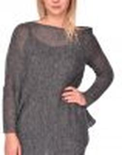 Asymmetrical cardigan/ sweater grey mellange