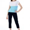 Lucy Knitted Cotton Top, Light Blue