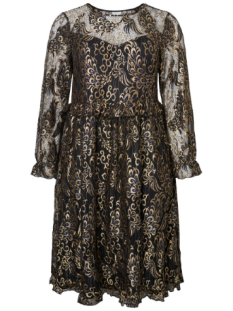 JUNAROSE Lace Midi Dress Women Black
