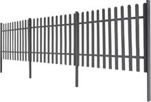 vidaXL Staket med stolpar 3 st WPC 600x100 cm