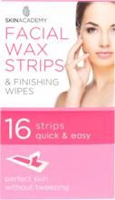 Skin Academy Facial Wax Strips 16 kpl