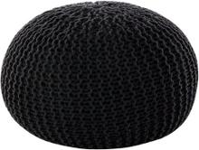 Musta neulottu pallorahi 40x25 cm CONRAD