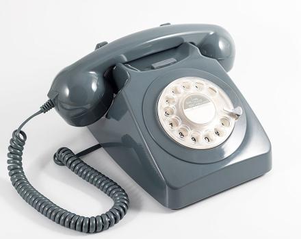 GPO 746 Modern Telefon med Snurrskiva - Grå