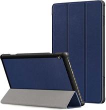 Tri-Fold Lenovo Tab M10 Folio Cover - Mørkeblå