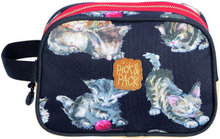 Toiletcase kittens black