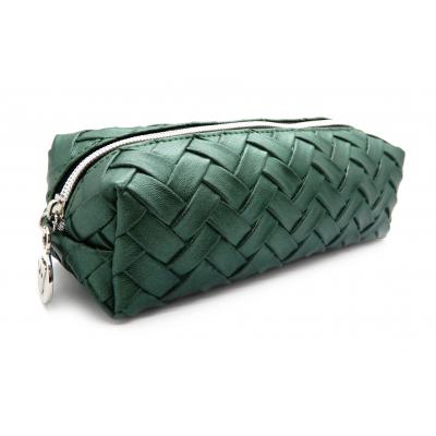 W7 Weaved Slim Cosmetics Bag Green 1 stk